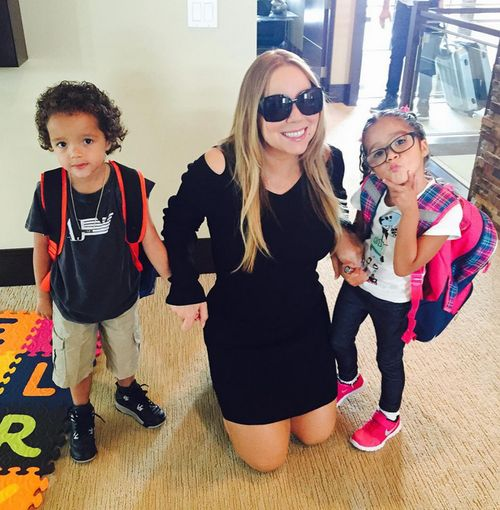 Mariah Carey und ihre Zwillinge Moroccan und Monroe machen derzeit gemeinsam Urlaub