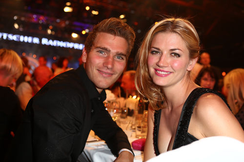 Nina Bott with handsome, Boyfriend Benni Baarz