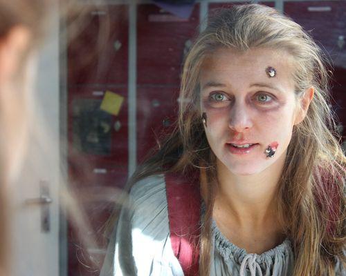 Nina Eichinger zeigte sich als furchteinflößender Charakter im Berlin Dungeon
