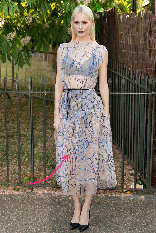 Poppy Delevingne sorgte mit einem Penis-Kleid für Furore