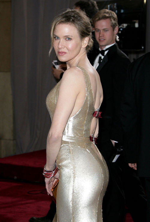 Renee Zellweger punktete im goldenen Dress bei den Oscars