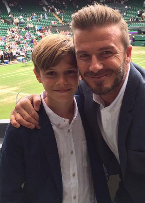 Romeo Beckham geht mit Papa David schon ins Fitness-Studio