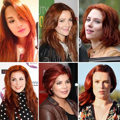 Rot war die Trend-Haarfarbe 2011