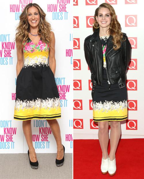 Sarah Jessica Parker und Lana Del Rey trugen wirklich das gleiche Kleid
