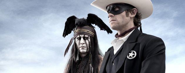 Armie Hammer und Johnny Depp in Lone Ranger