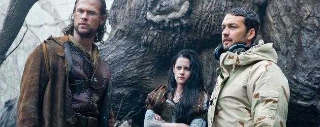 Chris Hemsworth, Kristen Stewart und Rupert Sanders