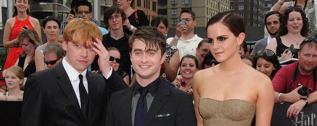 Daniel, Rupert und Emma auf dem roten Teppich