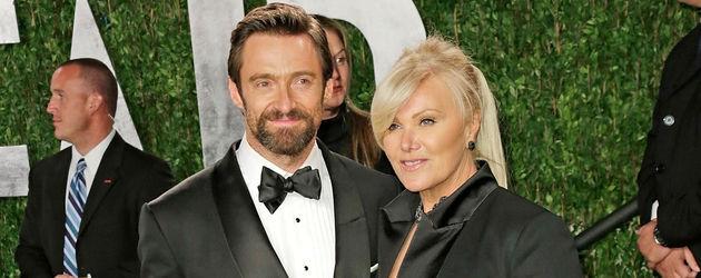 Hugh Jackman und seine Frau bei der Oscarverleihung 2013
