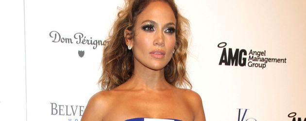 Jennifer Lopez im blauen Tube-Dress