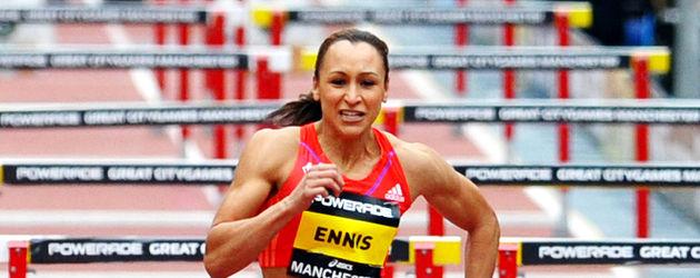Jessica Ennis beim Hürdenlauf 2