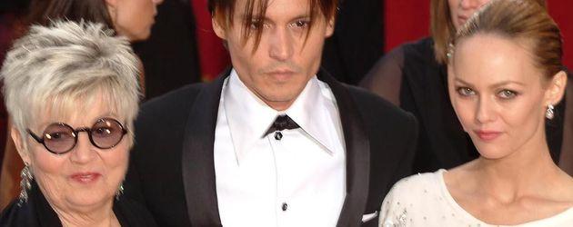 Johnny Depp, seine Mutter und Vanessa Paradis