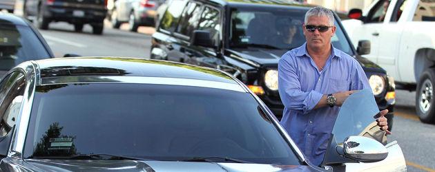 Justin Biebers Bodyguard in seinem Auto