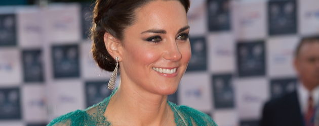 Kate Middleton im petrolfarbenen Kleid