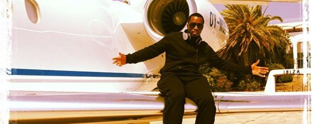 P. Diddy am Flieger