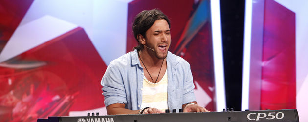 Popstars 2012: Alex mit Keyboard