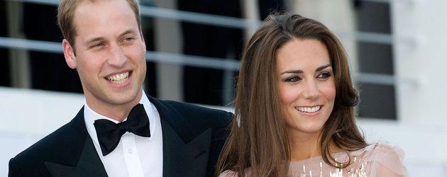 Prinz William und Kate im rosa Kleid