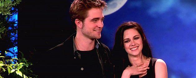 Robert Pattinson und Kristen Stewart bei Ellen