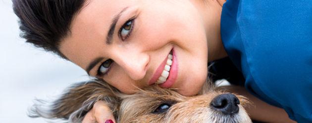 Sarah Mühlhause mit Hund