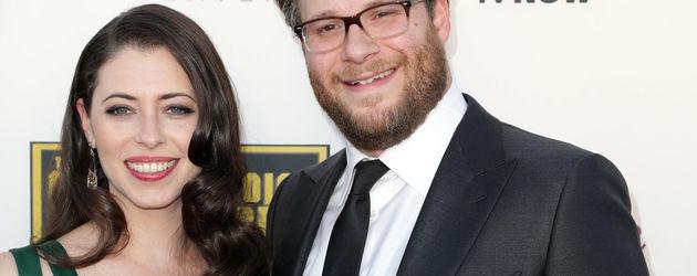 Setz Rogen mit Lauren Miller bei den Critics' Choice Awards 2014