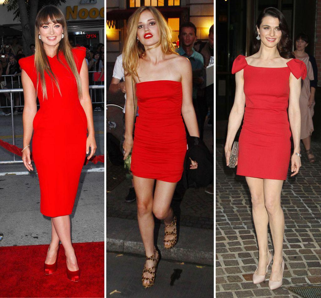 Rote kleider schuhe