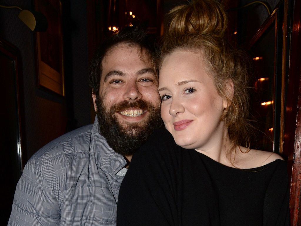 Adele mit Simon Konecki beim Lady Gaga Konzert in London