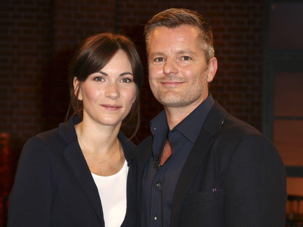André Dietz mit Gattin Shari Dietz bei der Aufzeichnung der WDR-Talkshow 'Kölner Treff'