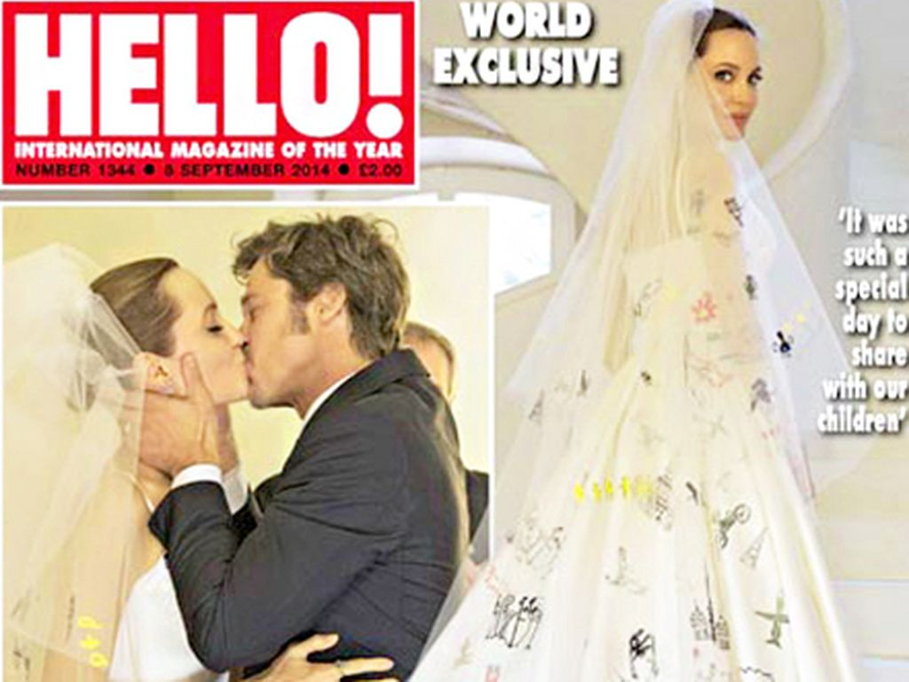 Angelina Jolie: So schlicht war ihr Wedding-Look  Promiflash.de
