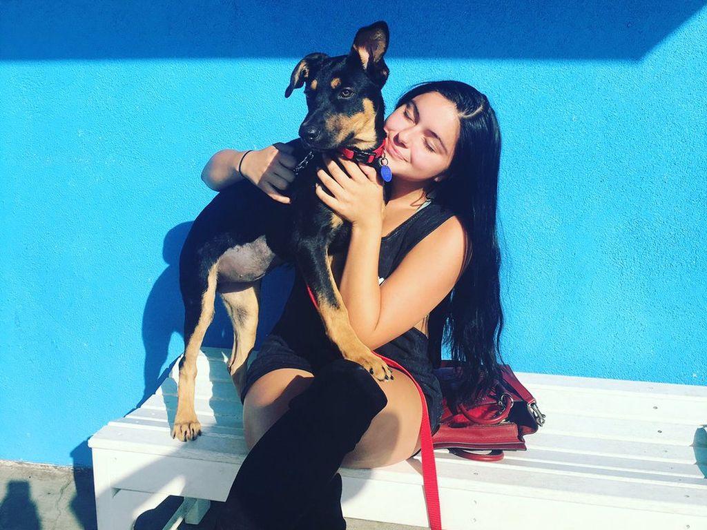 Ariel Winter mit ihrem Hund Buttercup