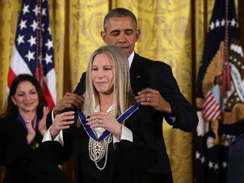 Barack Obama und Barbra Streisand