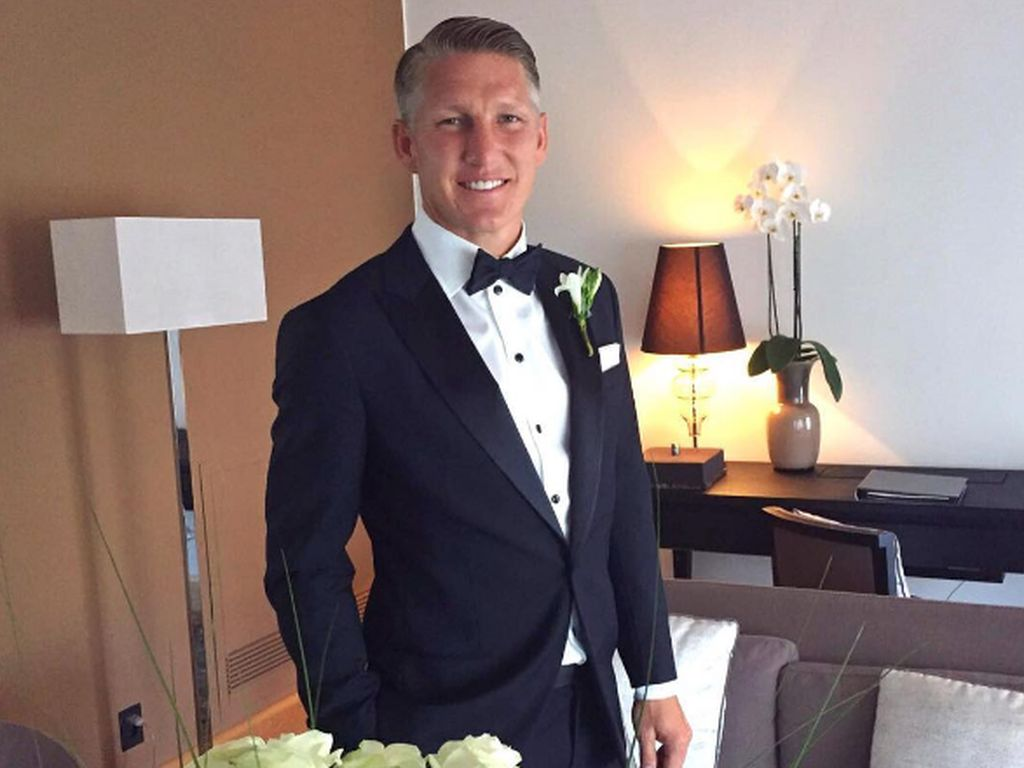 Bastian Schweinsteiger kurz vor seiner Hochzeit am 13. Juli 2016