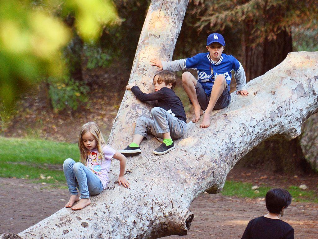 Vivienne, Knox und Shiloh Jolie-Pitt