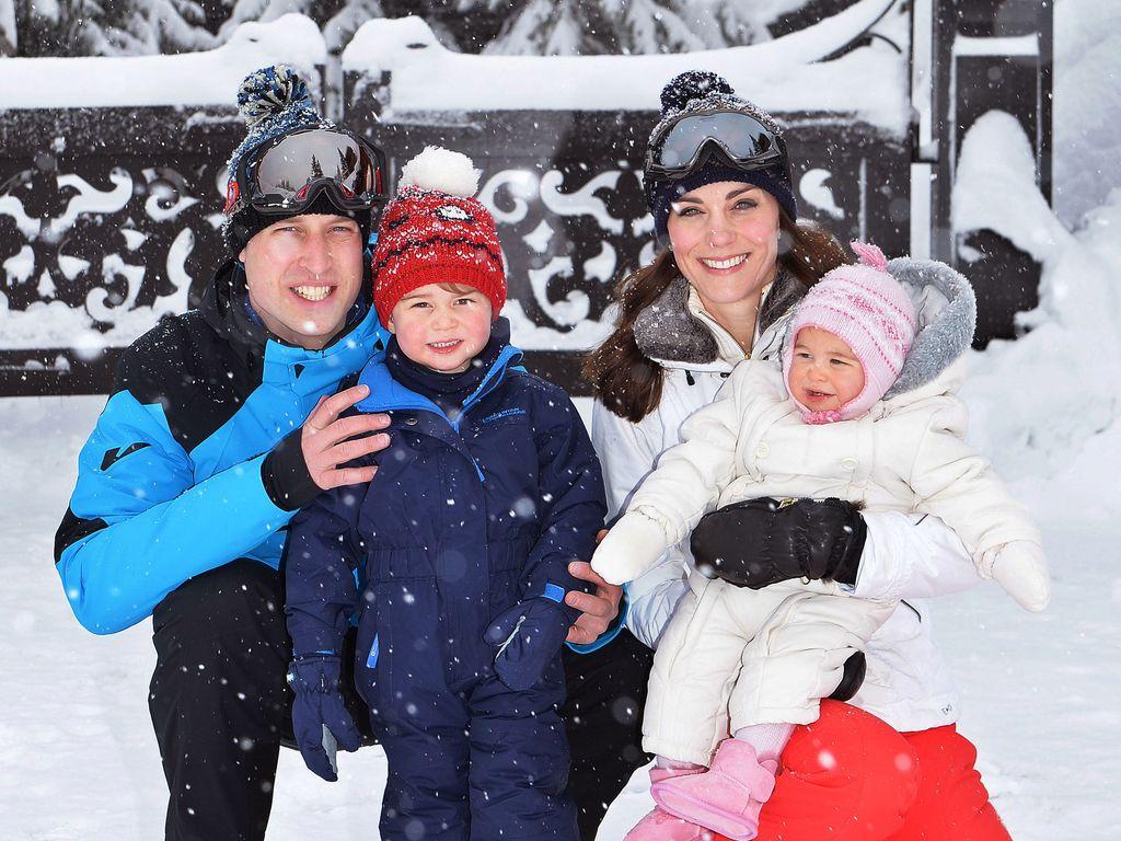 Herzogin Kate, Prinz William, Prinz George und Prinzessin Charlotte