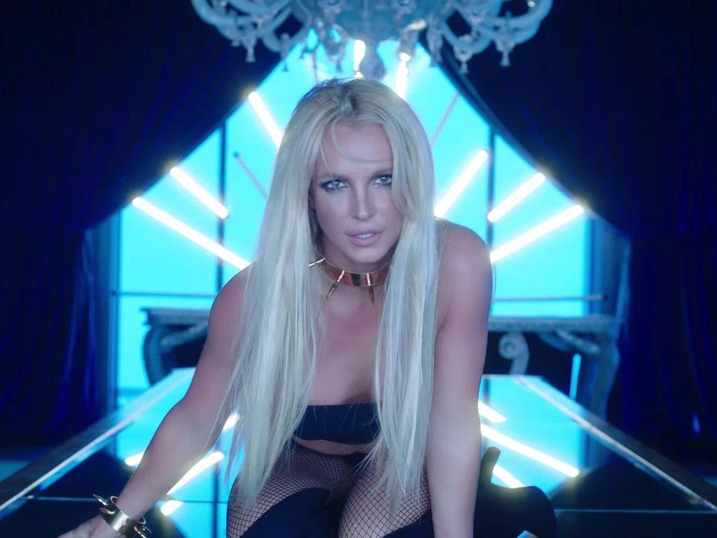 "Britney Spears in ""Slumber Party"""