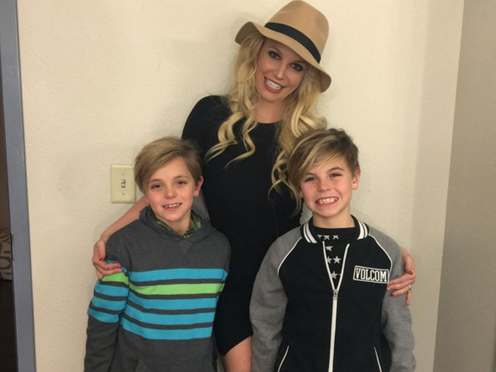 Britney Spears mit ihren Söhnen Sean Preston Federline und Jayden James Federline