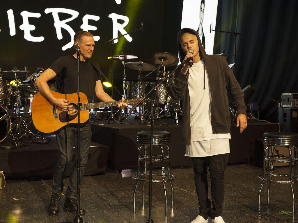 Justin Bieber und Bryan Adams