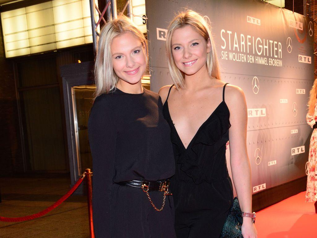"""Cheyenne und Valentina Pahde (r.) auf der """"Starfighter""""-Premiere in Berlin"""