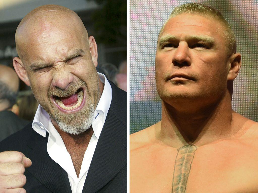 Bill Goldberg und Brock Lesnar, WWE-Superstars