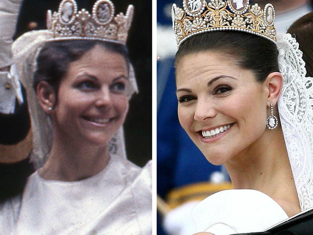 Königin Silvia und Kronprinzessin Victoria von Schweden
