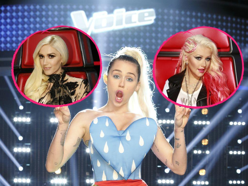 Miley Cyrus, Gwen Stefani und Christina Aguilera