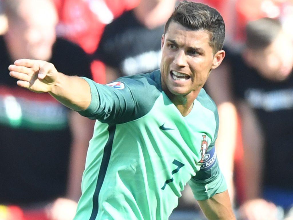 Cristiano Ronaldo beim Spiel Ungarn gegen Portugal bei der EM 2016 in Lyon