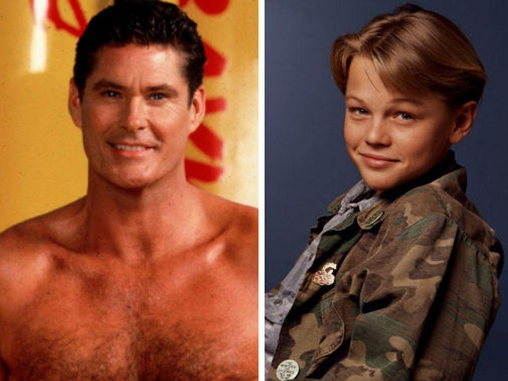 David Hasselhoff und Leonardo DiCaprio früher