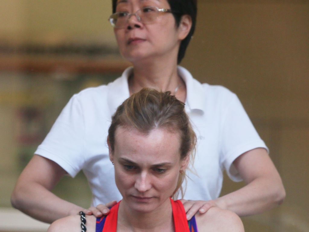 Diane Kruger in einem Beauty-Salon in New York