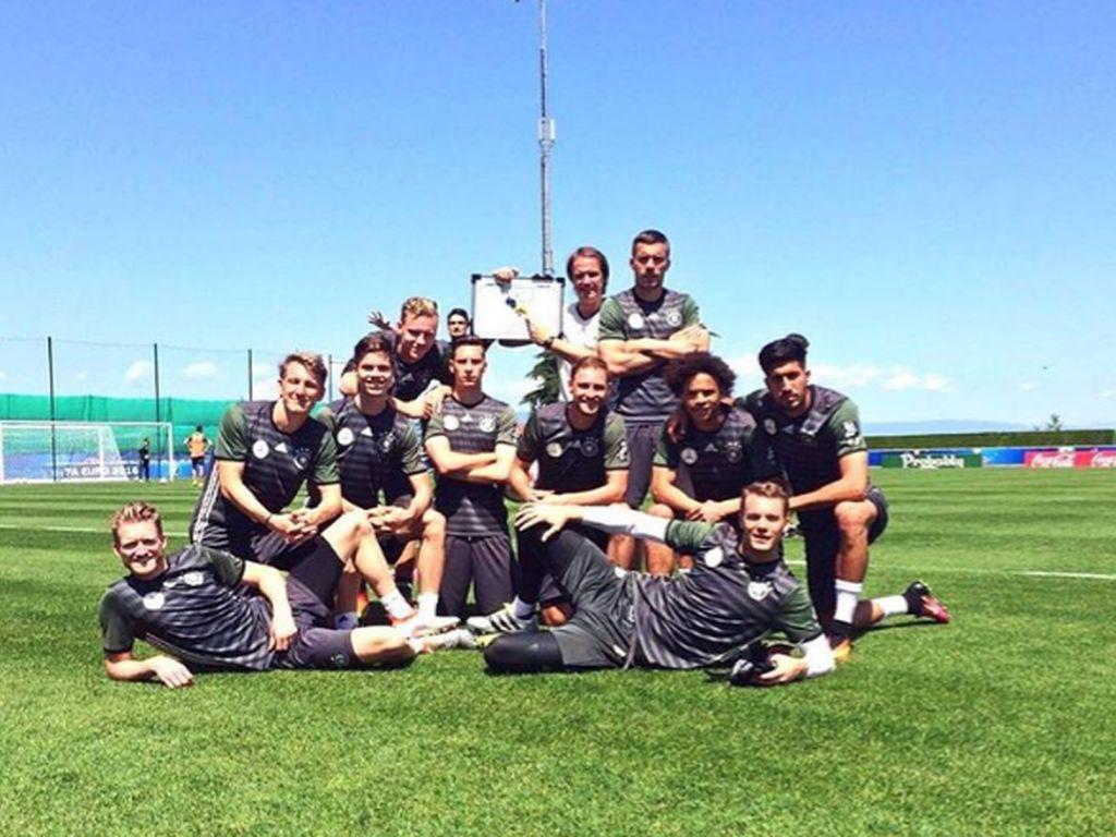 Die deutsche Fußballnationalmannschaft vor dem EM-Achtelfinale