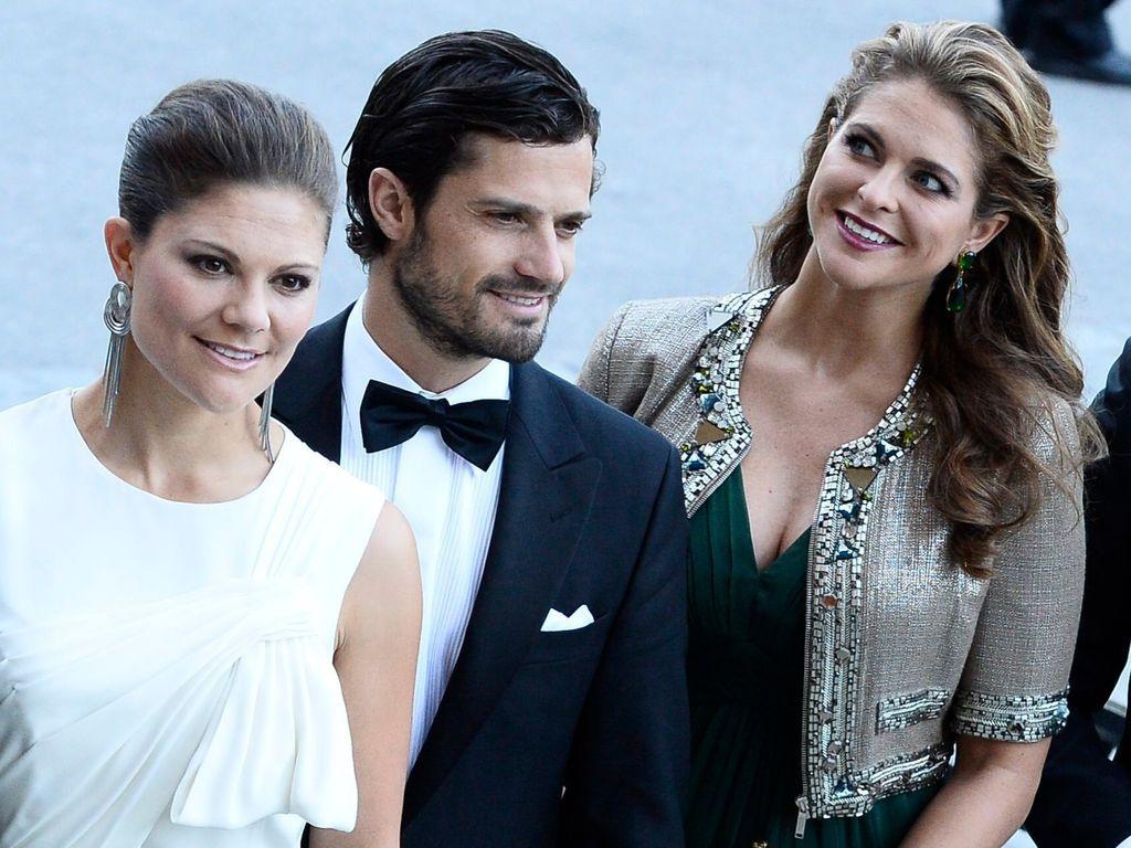 Prinz Carl Philip von Schweden, Madeleine von Schweden und Prinzessin Victoria von Schweden