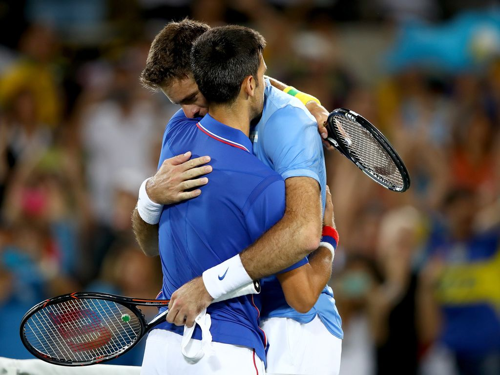 Novak Djokovic und Juan Martin del Potro
