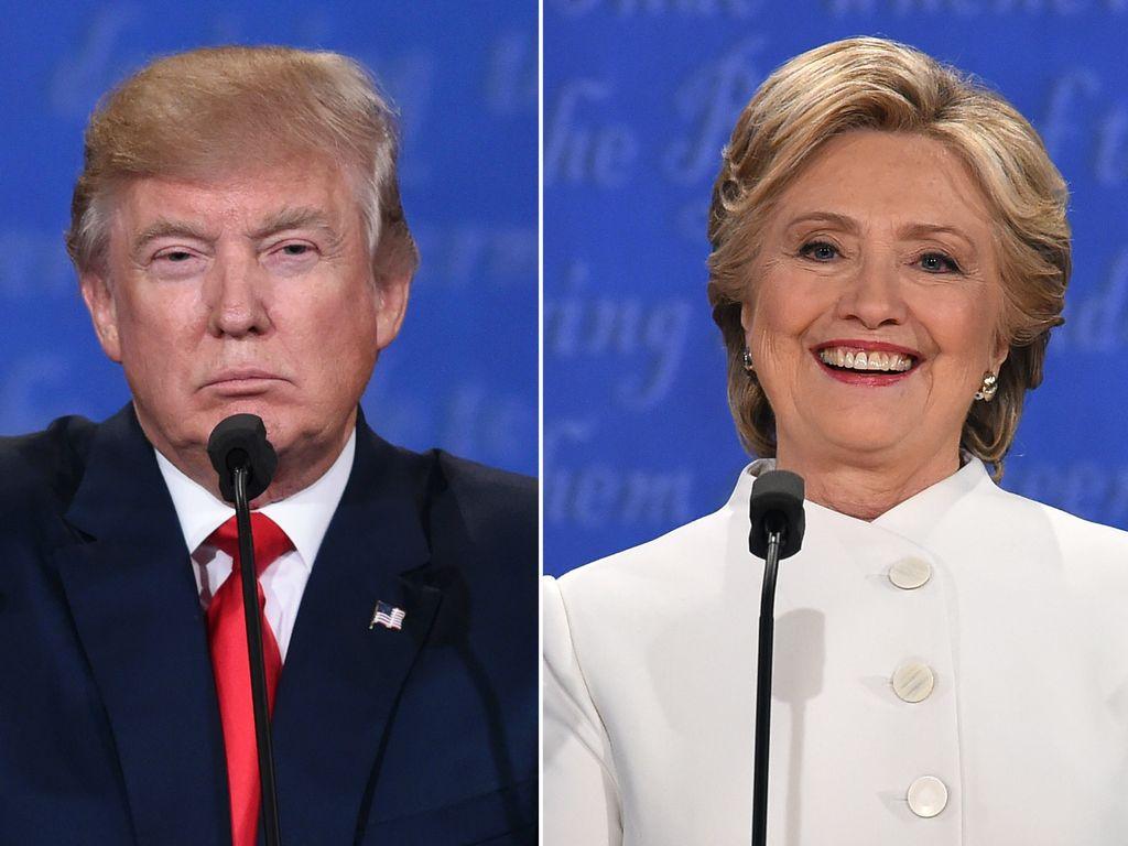 Donald Trump und Hillary Clinton in Las Vegas