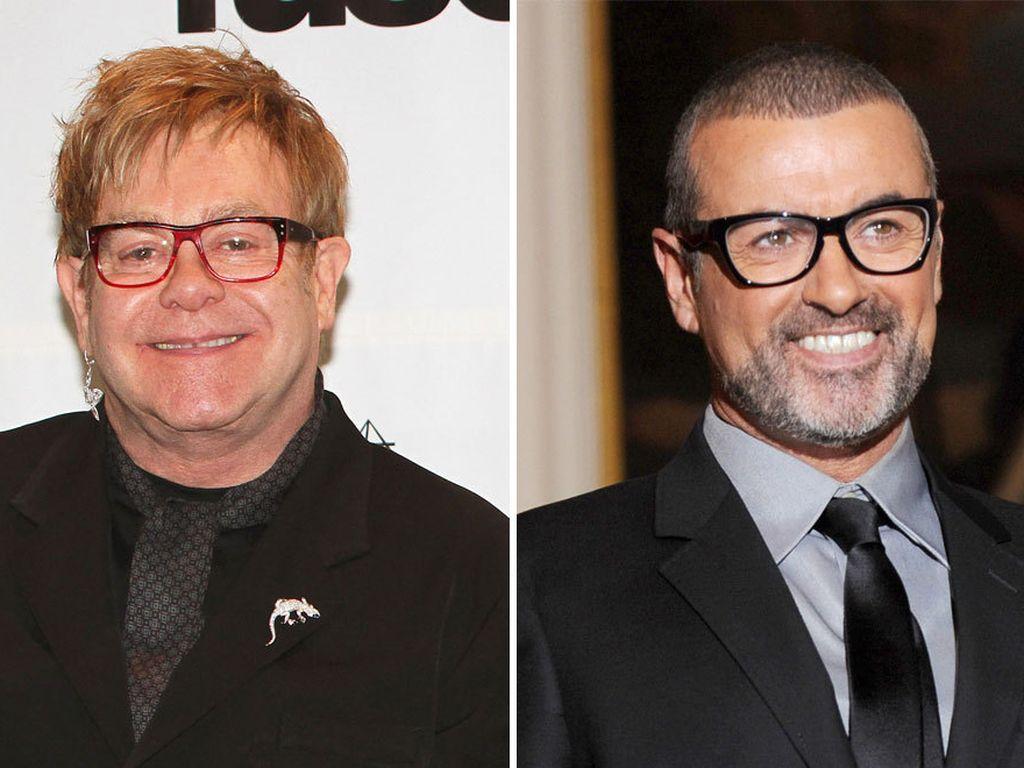 Elton John und George Michael