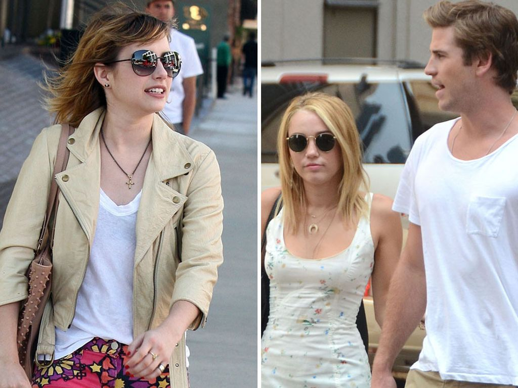 Miley Cyrus, Liam Hemsworth und Emma Roberts
