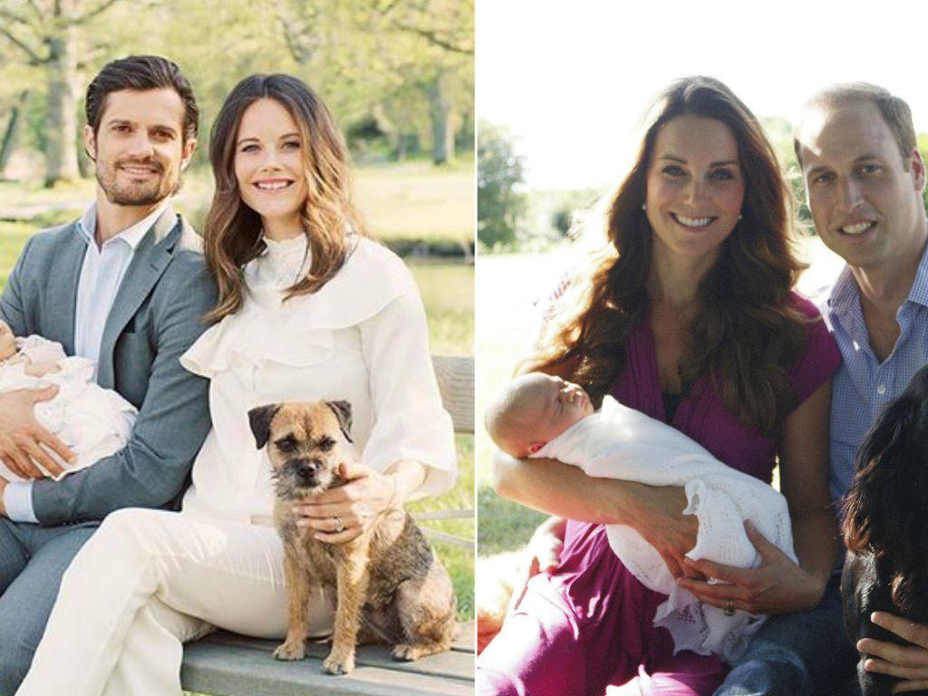 Herzogin Kate, Sofia Hellqvist, Prinz William, Prinz Alexander und Prinzessin Charlotte