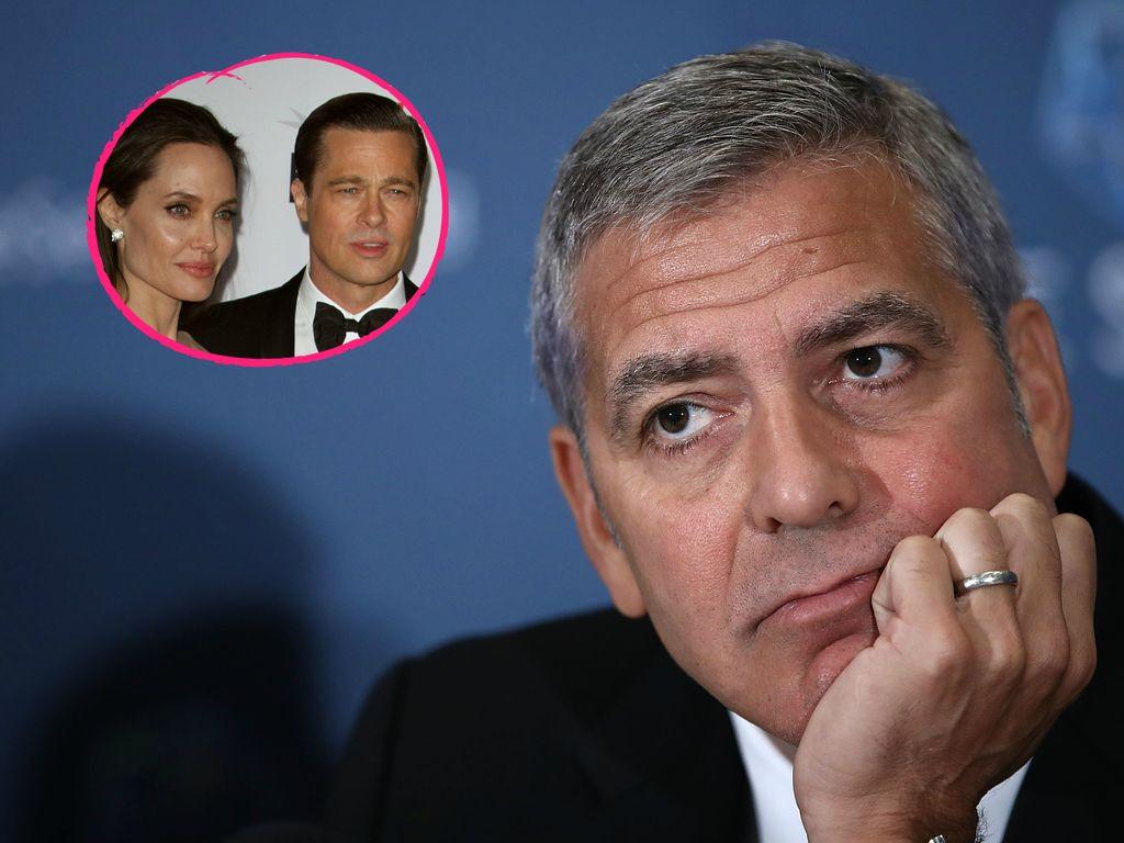 Angelina Jolie, Brad Pitt und George Clooney